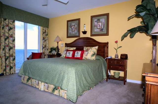 Staging Silver Beach Towers E-1603 on the water in the heart of sunny Destin tropical-bedroom