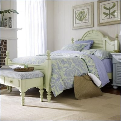 Stanley Furniture Coastal Living Summerhouse Low Post Panel Bed ...