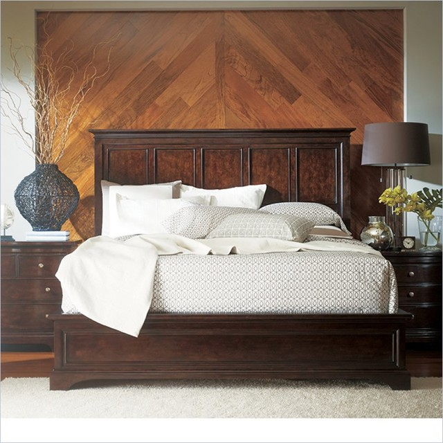 Stanley Furniture Transitional Panel Bed Polished in Sable traditional ...
