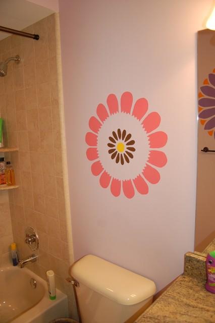 Stencils,Stripes, Swarovski Crystals Child Bedroom and Bath traditional-bedroom