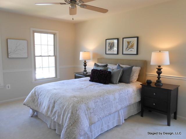 sterling split level transitional bedroom