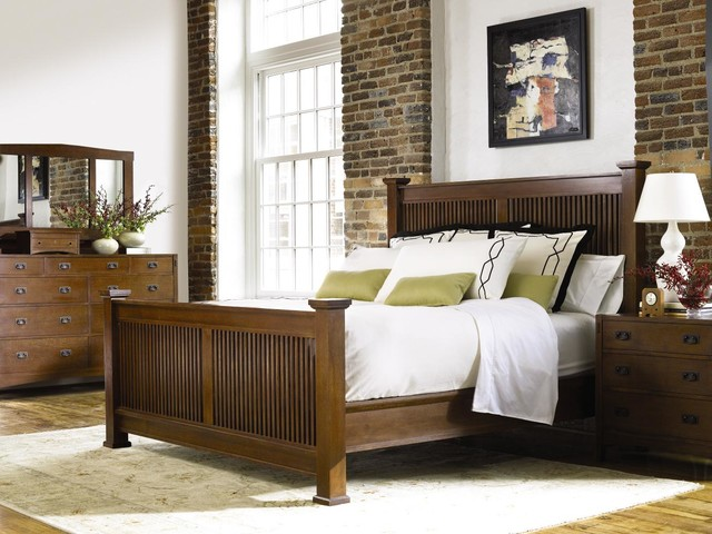 Stickley Mission Bedroom Craftsman Bedroom Wichita By Traditions Home