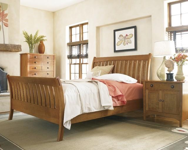 stickley mission sleigh bed craftsman bedroom other