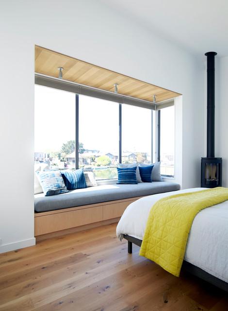 Stinson beach lagoon residence - Houzz dormitorios ...