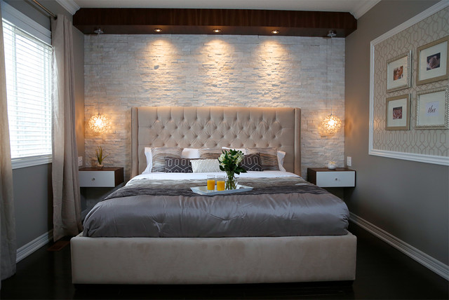 Modern Bedroom Images Impressive Stone Master Bedroom  Modern  Bedroom  Toronto Paul Design Decoration