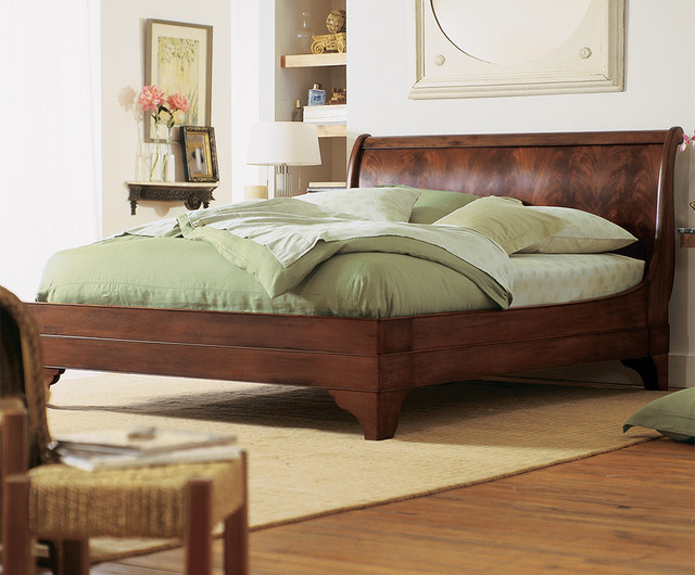 Stratford Sleigh Bed Flame Mahogany Traditional