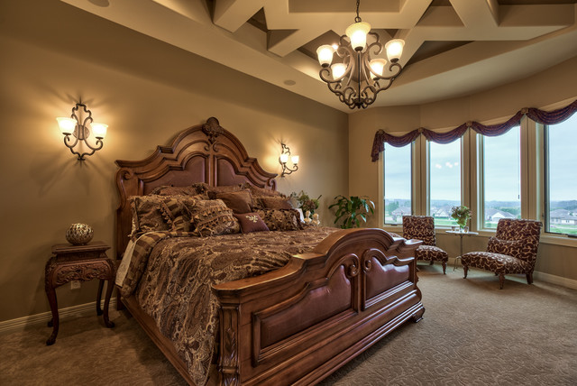 Street of dreams tuscan villa mediterranean bedroom for Mediterranean style bedroom furniture
