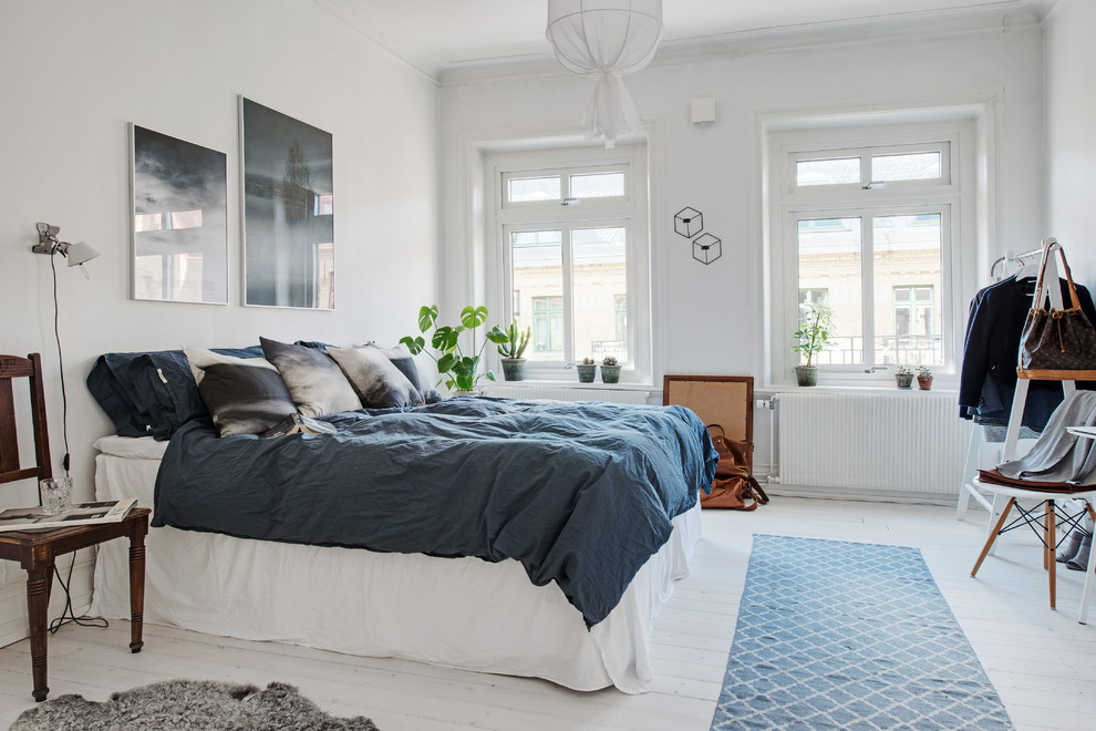 Inspiration for a scandinavian bedroom remodel in Gothenburg