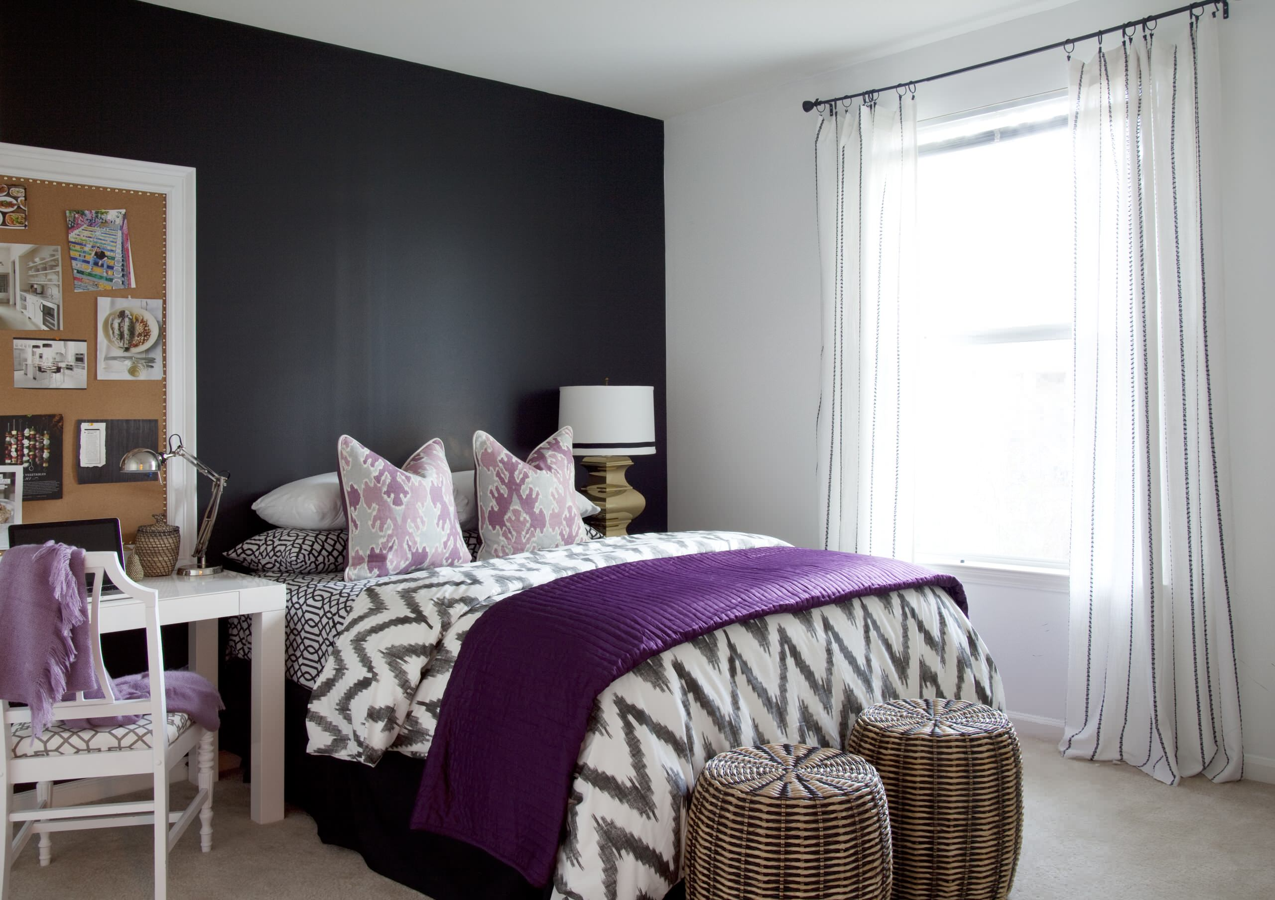 Purple And Gold Bedroom Houzz
