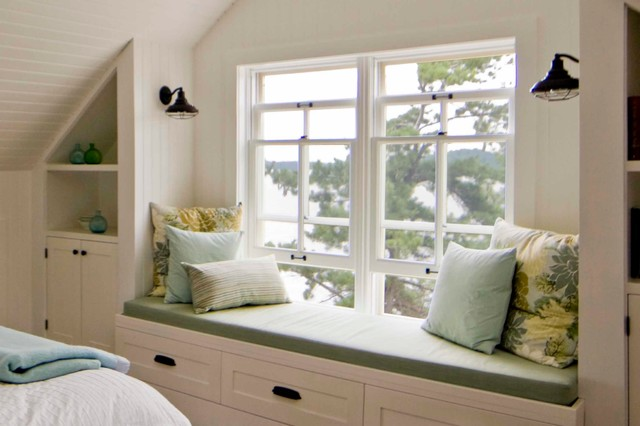 Sullivan Island Cottage Bedroom Window Seat Rustic