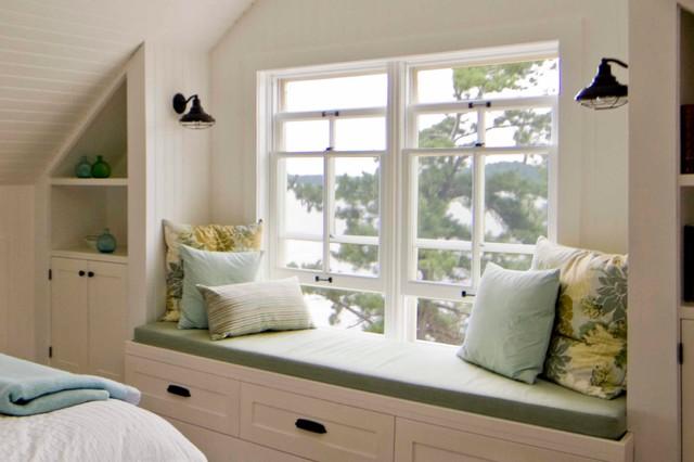 bedroom window seat. Sullivan Island Cottage  Bedroom window seat rustic bedroom Rustic