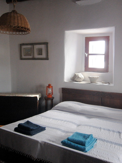summer house in Paros Island traditional-bedroom