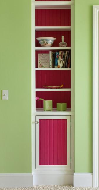 Guest Bedroom Built-In Bookcase traditional-bedroom
