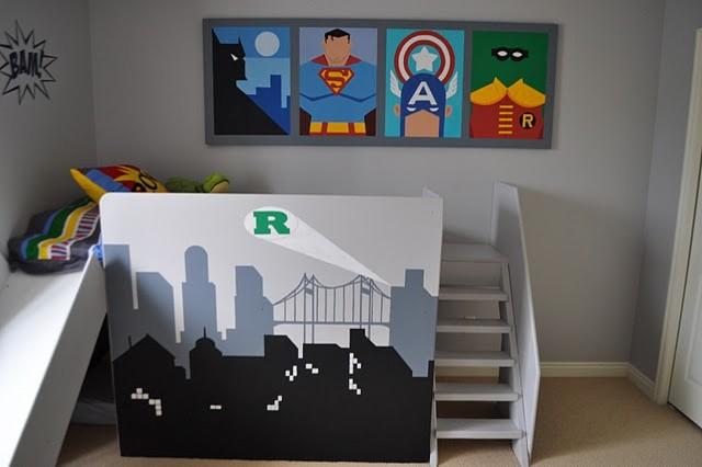 superhero kids room eclectic bedroom