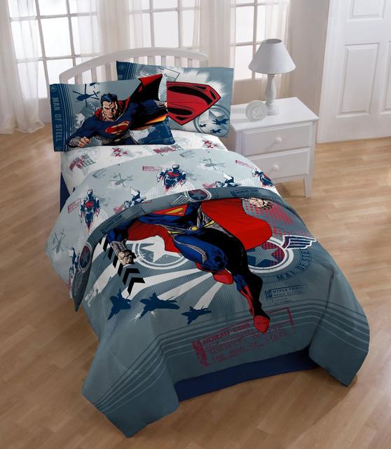 superheroes superman bedding and room decorations modern bedroom