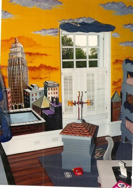 Superman bedroom eclectic bedroom philadelphia by allison moreland interior design - Superman interior designs ...