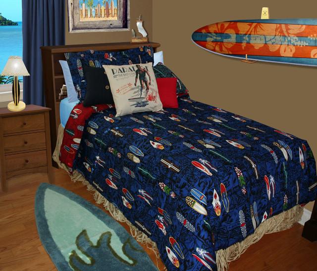 Surfboard Beddimg Beach Style Bedroom Orange County
