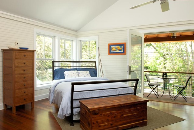 eclectic bedroom by Richard Bubnowski Design LLC