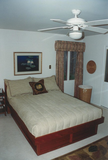 Sweet Dreams Custom Bedding On A Platform Bed Contemporary Bedroom Dc Metro By