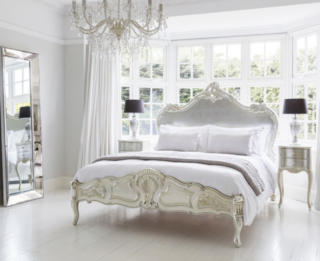 Sylvia Serenity Silver French Bed - Traditional - Bedroom ...