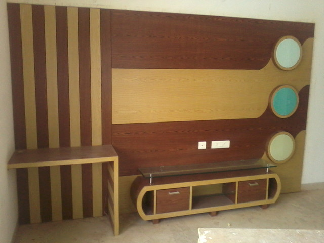 TV UNIT CUM STUDY TABLE Modern Bedroom Hyderabad