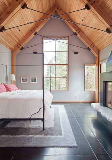Tahoe Ridge House modern bedroom