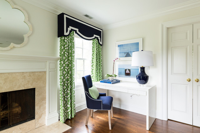 Tailored Blue and Green Master Bedroom - Transitional ...