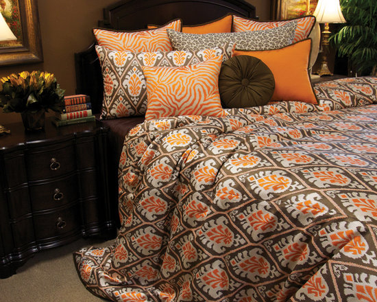 Bedding 2013 - King Tangerine Duvet Set: