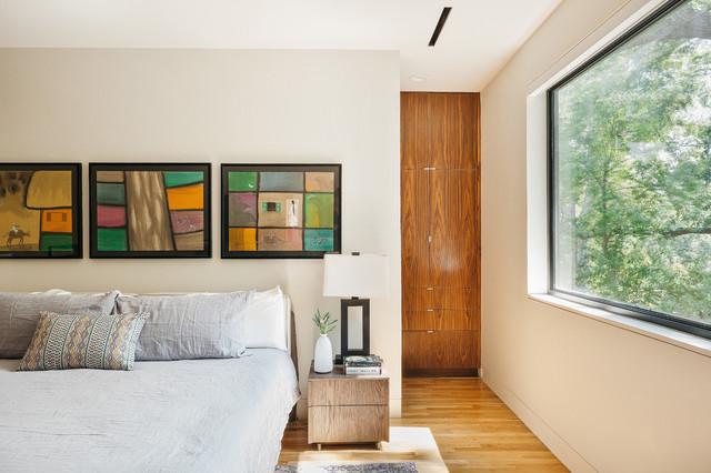 Immagine di una camera da letto design