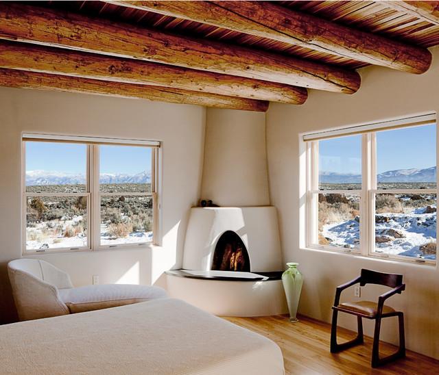 Taos Residence Southwestern Bedroom San Francisco