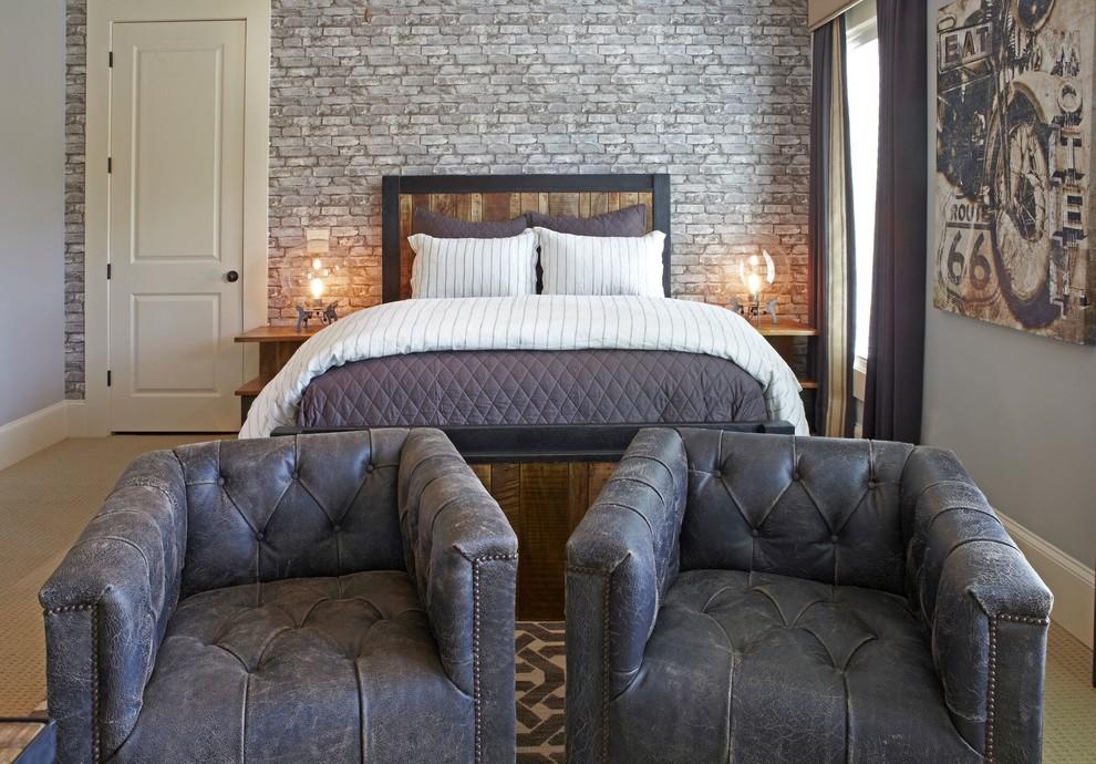 Inspiration for an industrial bedroom remodel in Atlanta