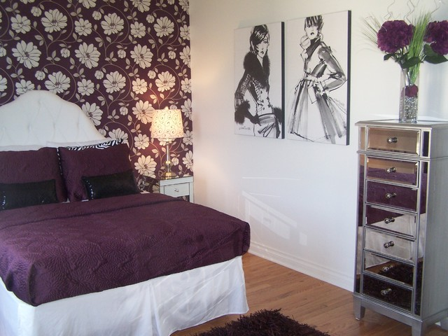 girl fashion bedroom in plum bedroom cleveland by devine designs