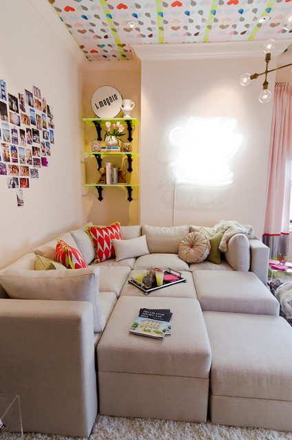 Photo Wall Collage Bedroom With Neon Sign