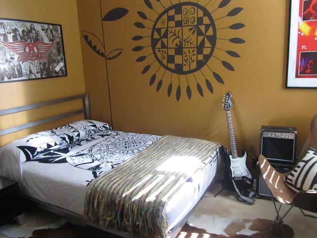 Teen Rocker Room eclectic-bedroom