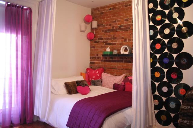 Teenage girl room eclectic-bedroom