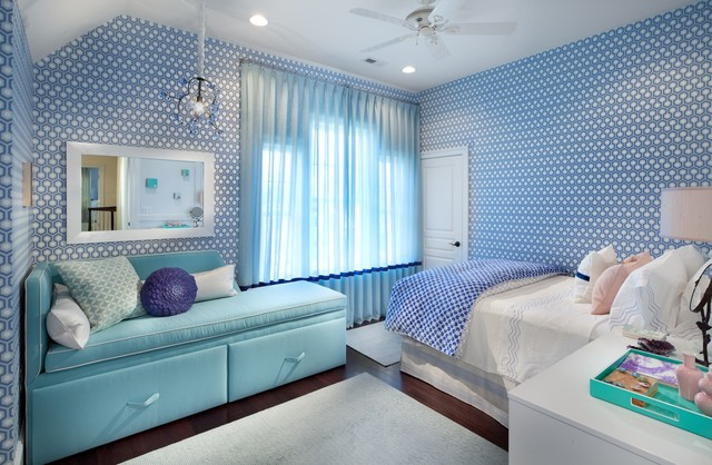 Teenage girl s room contemporary bedroom dc metro by margaret carter interiors