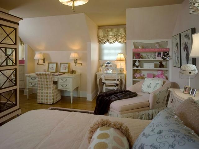 Teenage girls bedroom traditional bedroom new york for Interior design bedroom traditional
