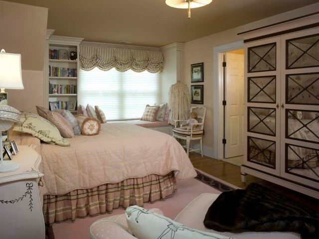 Teenage girls bedroom traditional bedroom new york by maria k bevill interior design - New york girls room ...