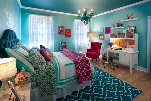 Teenage Girls Just Want To Have Fun! - Contemporary - Bedroom ...