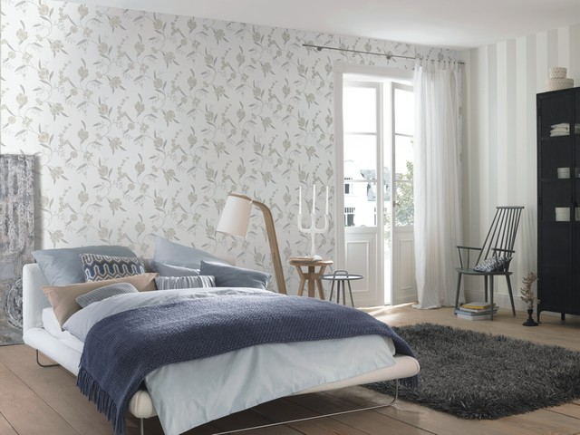 Tendresse by rasch Wallpaper - Contemporary - Bedroom - New York ...