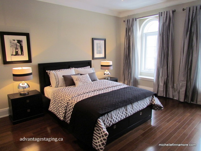 Terra moda model home master bedroom modern bedroom toronto by michelle finnamore - Bedroom style for small space model ...