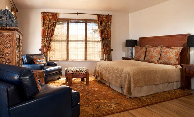 tesuque new mexico ranch mediterranean bedroom