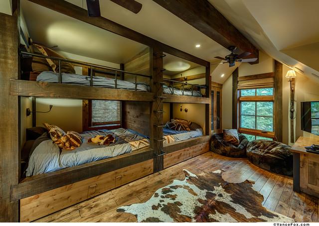 Texas In Tahoe Austin Cabin Rustic Bedroom Sacramento By Greenwood Homes