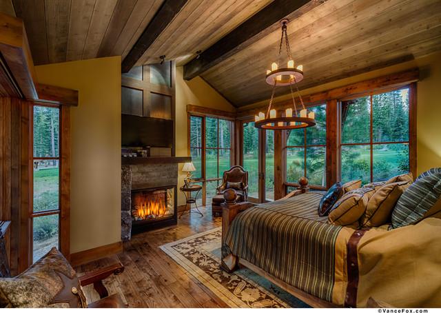 Texas In Tahoe Austin Cabin Rustic Bedroom
