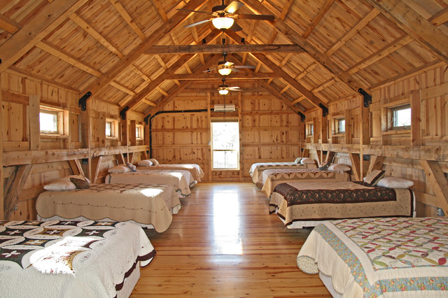 Texas Rustic Barn Home Living Rustic Bedroom Other By Sand