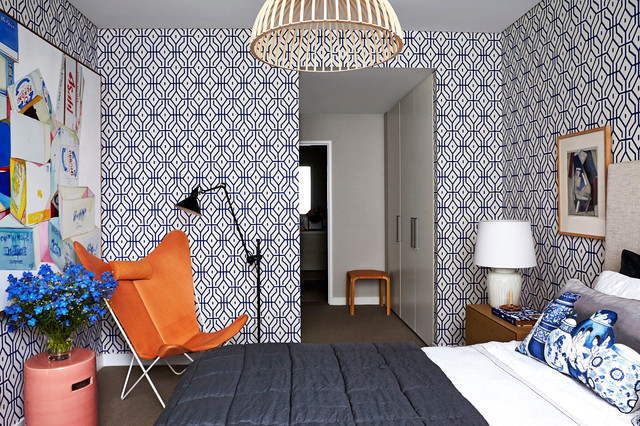 Temporary Wallpaper Apartment | Houzz