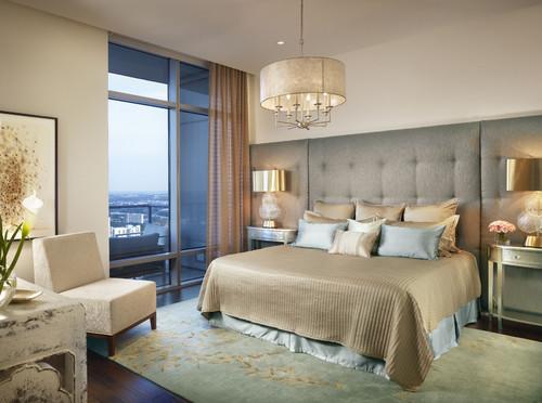 The Austonian Model Unit 41S contemporary bedroom