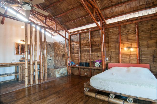 The Bambu House tropical-bedroom