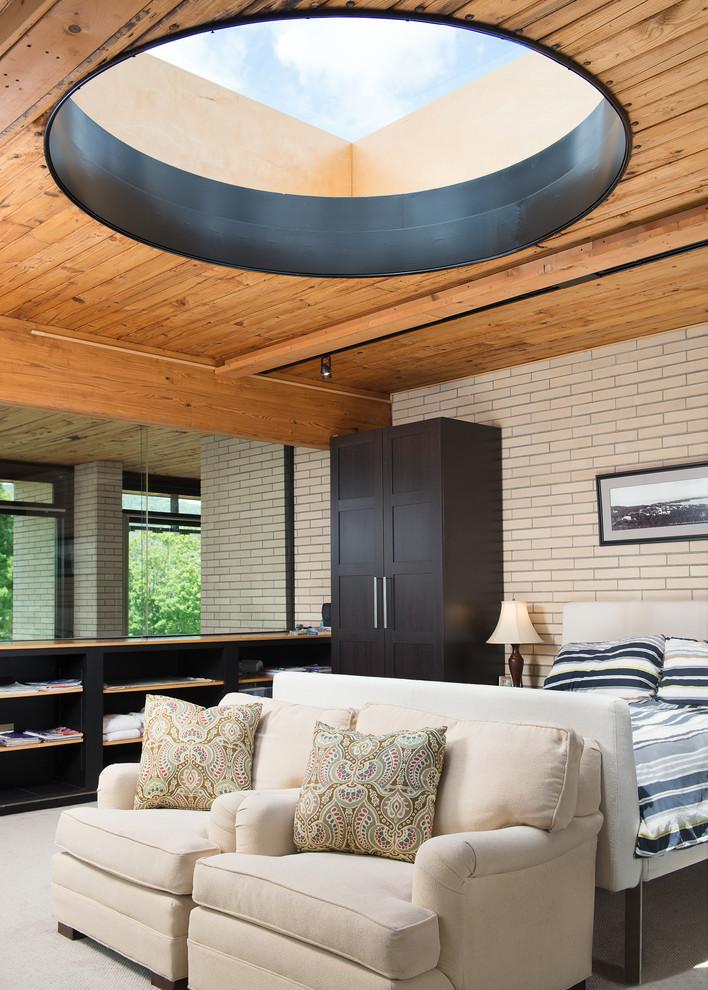 Inspiration for a contemporary master bedroom remodel in Burlington