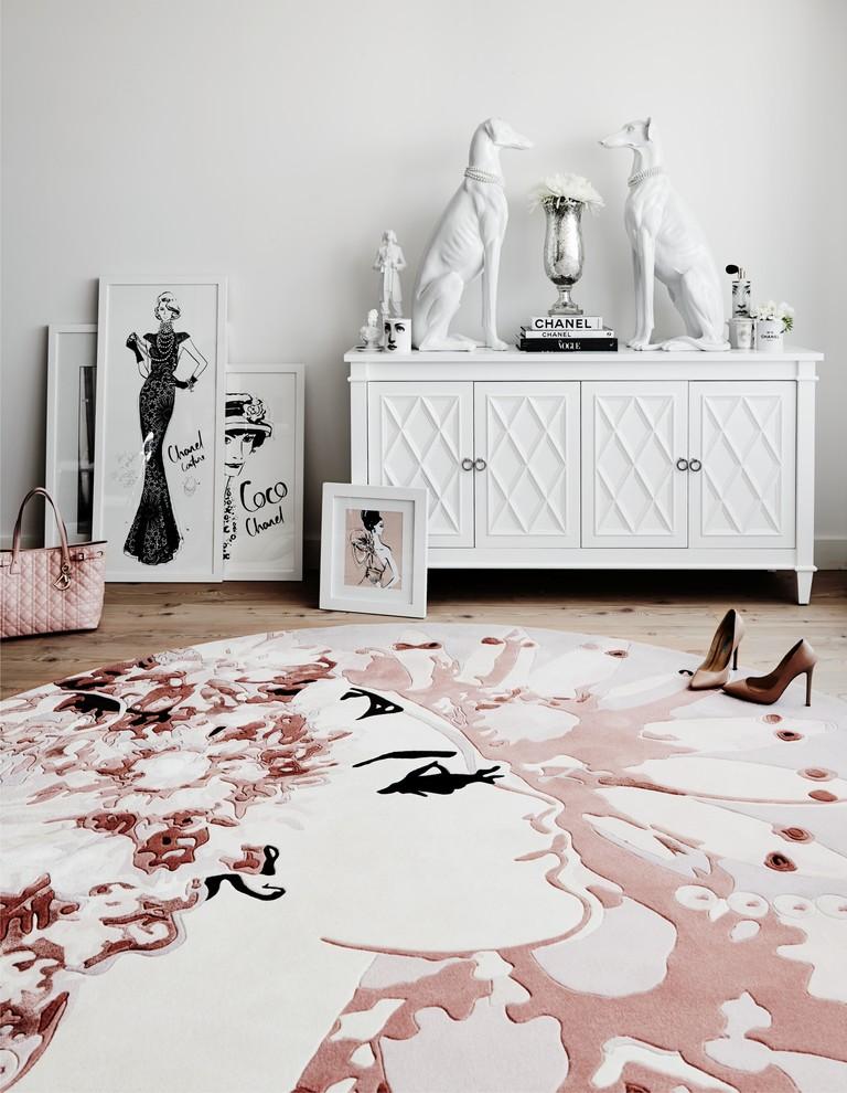 Example of a trendy bedroom design in Sydney